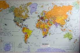 World Map Push Pin Board by Push Pin World Map Roundtripticket Me