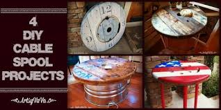 remodelaholic 9 cool wood projects november link party artsy vava 4 diy cable spool projects