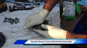 suzuki vinson front differential assembly youtube