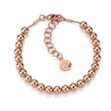 rose gold bead bracelet images Rose gold plated small bead bracelet jpg
