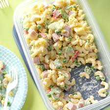 easy cold pasta salad easy macaroni salad recipe taste of home