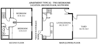 Split Two Bedroom Layout Sample Floor Plans