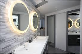 double round lighted mirror for magical bathroom idea illuminated