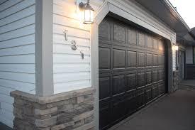 garage doors gotaintainting the garage door black shocking