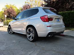 bmw staggered wheels and tires my 14 silver x3 m sport with aggressive staggered 20 s