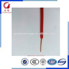 red color pvc insulated bv4mm single core copper electric wire