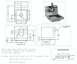 stainless steel hand sink commercial hand sink dimensions sink ideas