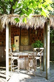 Tiki Outdoor Furniture by Outdoor Bar Deck Tropical With Tiki Bar Thatched Roof Thatched Roof