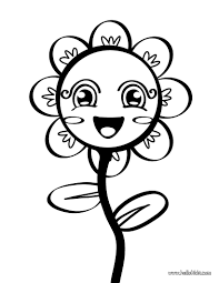 flowers for kids coloring page free download