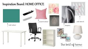 Home Office Design Board by Decorating Archives