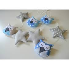 guirlande chambre bébé guirlande avec des hiboux et étoiles pour chambre bébé et enfant