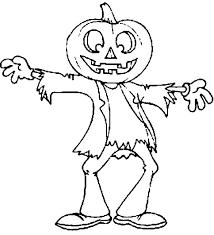 scarecrow jack u0027 lantern halloween coloring netart