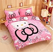 100 cotton cartoon kitty bedding sets duvet cover bed cover