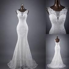 elegant sleeveless mermaid lace up popular lace wedding dresses