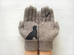 dog gloves express shipping holiday gift bone dog lovers