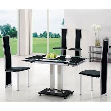 glass top dining table set dining table design ideas