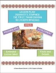 squanto s journey the story of the thanksgiving lesson plan