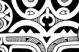 inner forearm tattoo in marquesan and maori inspired style