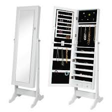 mirror and jewelry cabinet white mirror jewelry cabinet armoire w stand mirror rings