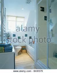 Bathroom In Loft Conversion Modern Monochromatic White Loft Bathroom In A Converted Attic With