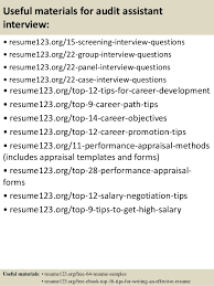 Auditor Sample Resume top 8 audit assistant resume samples