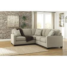 Two Piece Sofa by Ashley Furniture Alenya 2 Piece Sectional Sofa In Quartz 16600
