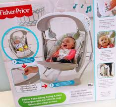siege fisher price fisher price deluxe portable smartswing take along baby infant swing