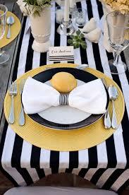 black and white table settings black white table runner 3 pinterest table settings