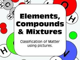 elements compounds and mixtures classification of matter