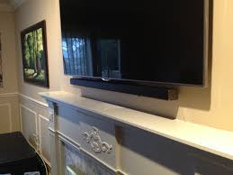 Best Way To Hide Wires From Wall Mounted Tv 13 Best Sound Bar Installation Ideas Images On Pinterest Wall
