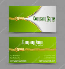 Job Title On Business Card Zipper Theme Business Card U2014 Stock Vector Pkillustrations 11692856