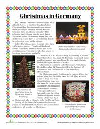 christmas in germany worksheets holidays and