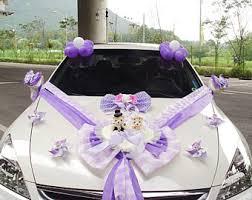 Wedding Car Decorations Handmade Wedding Car Decoration Etsy