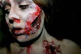 fake blood halloween makeup beauty is a creation of art