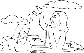 baptism colouring sheets coloring pages to print jesus