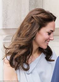 kate middleton s shocking new hairstyle kate middleton pins back her hair for a visit to hton court