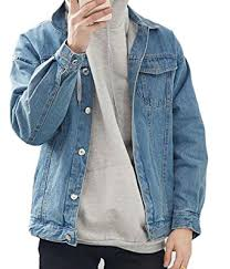 light blue denim jacket mens uuyuk men fahsion vintage wash denim jean jacket coats outerwear at