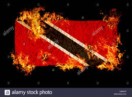 Hk Flag National Symbols And Flag Of Trinidad And Tabago Stock Photo