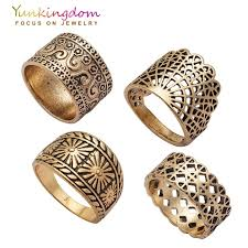 antique gold rings images Yunkingdom new vintage ring set hollow design ancient antique gold jpg