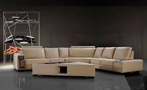modern leather sofa with coffee table vg646 leather sectionals
