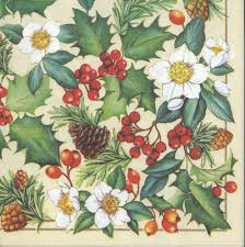 thanksgiving napkins paper decoupage paper napkins of christmas roses holly and pine cones