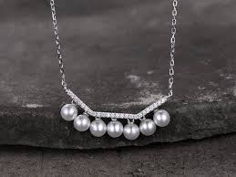 style silver necklace images Sterling silver necklace pearl necklace cubic zirconia necklace jpg