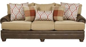 Pillows For Brown Sofa by 599 00 Bellister Brown Sofa Classic Traditional Textured