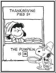 snoopy winter coloring pages brown thanksgiving