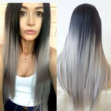 african american hairstyles for grey hair 24 gray color synthetic lace front wigs grey afro long straight