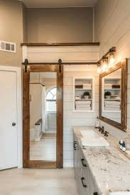 interior sliding barn doors wall mounted towel rack and half