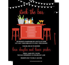 stock the bar invitation couples shower wine cocktail