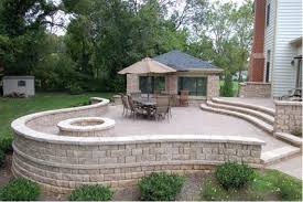 stone patio natural stone or brick paver patio for your bethesda home four