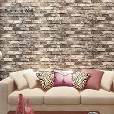 livingroom wallpaper blooming wall faux rustic tuscan brick wall pattern wallpaper
