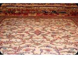 Traditional Rugs 9 U0027 X 12 U0027 Traditional Persian Beige Background Hand Made Woven Rug